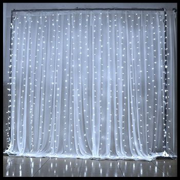 2m White LED Curtain Lights