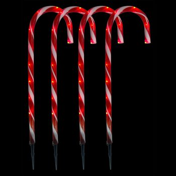 LED Red Candy Canes