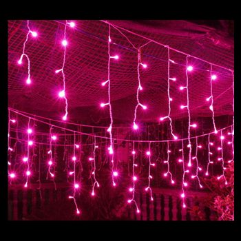 LED Pink Icicles