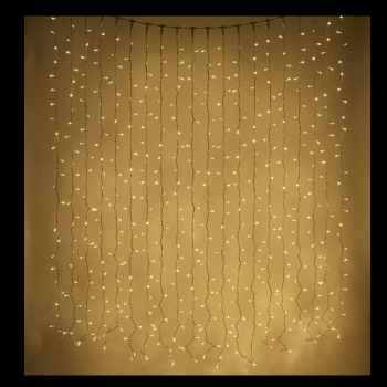 led curtain lights warm white