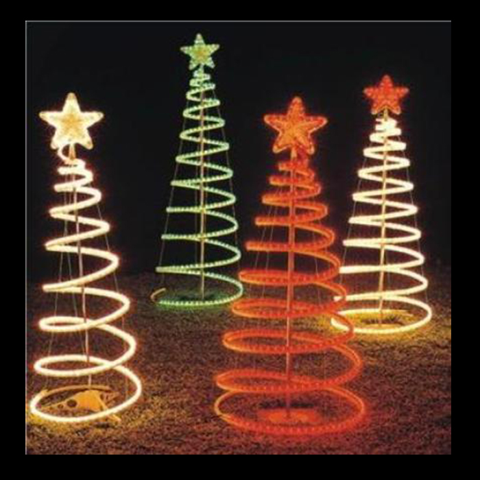Rope light trees festive lights rope light trees aloadofball Gallery