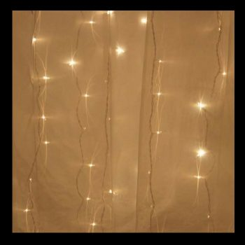 1m Warm White LED Curtain Lights