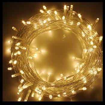 10m LED Warm White Battery Lights