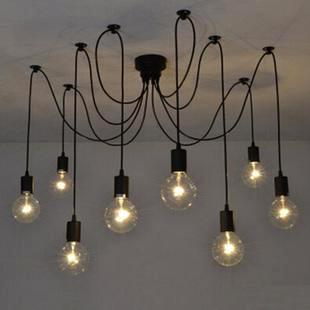 Spider Hanging Edison Bulbs
