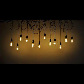 6 Hanging Edison Bulbs