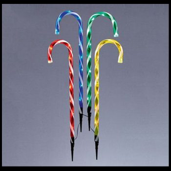 LED Coloured Candy Canes