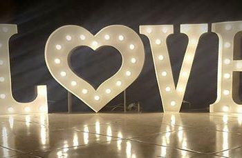 White Marquee Heart