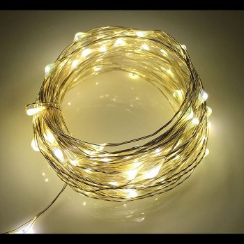10m Silver Copper Wire Battery Lights