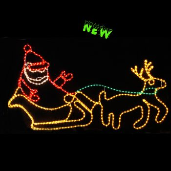 Santa, Sleigh and Deer