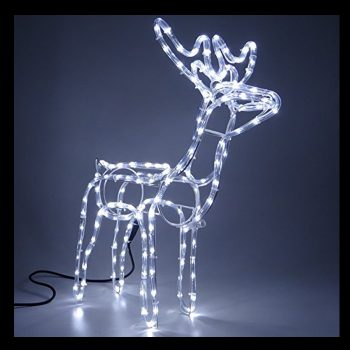 Small LED Reindeer - Cool White