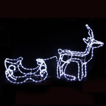 3D Reindeer and sleigh
