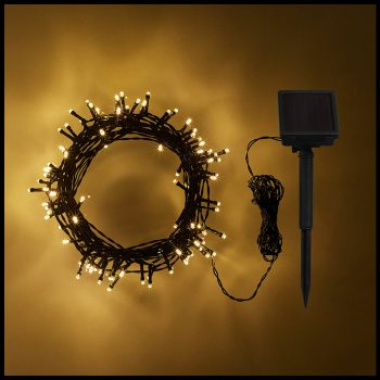 Solar LED Fairy Lights-Warm White