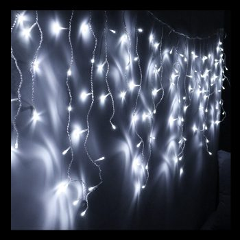 8m Cool White LED Icicles