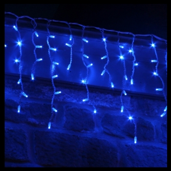 led blue icicles