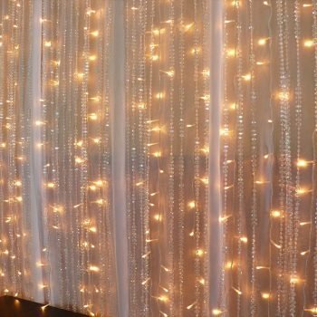 2m Warm White LED Curtain Lights