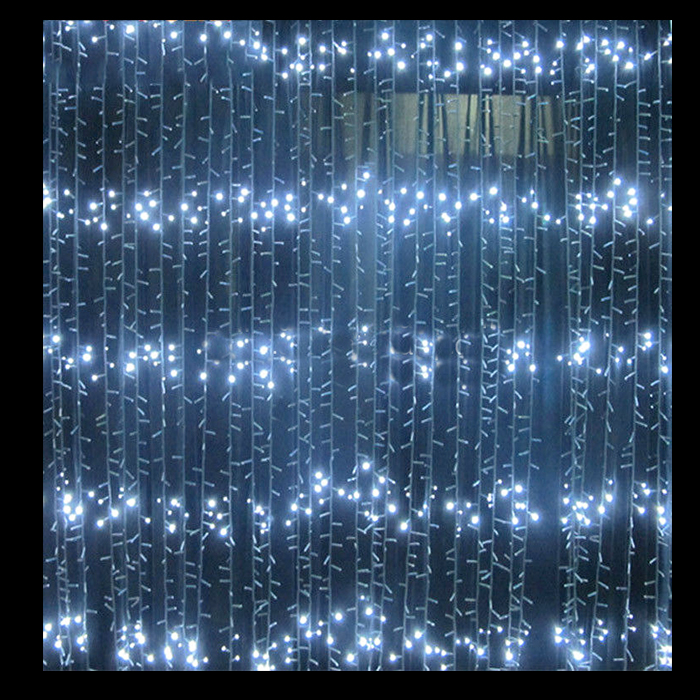 2m white led waterfall lights festive lights lights for all occasions. Black Bedroom Furniture Sets. Home Design Ideas