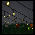 10m Rubber Warm White LED Fairy Lights