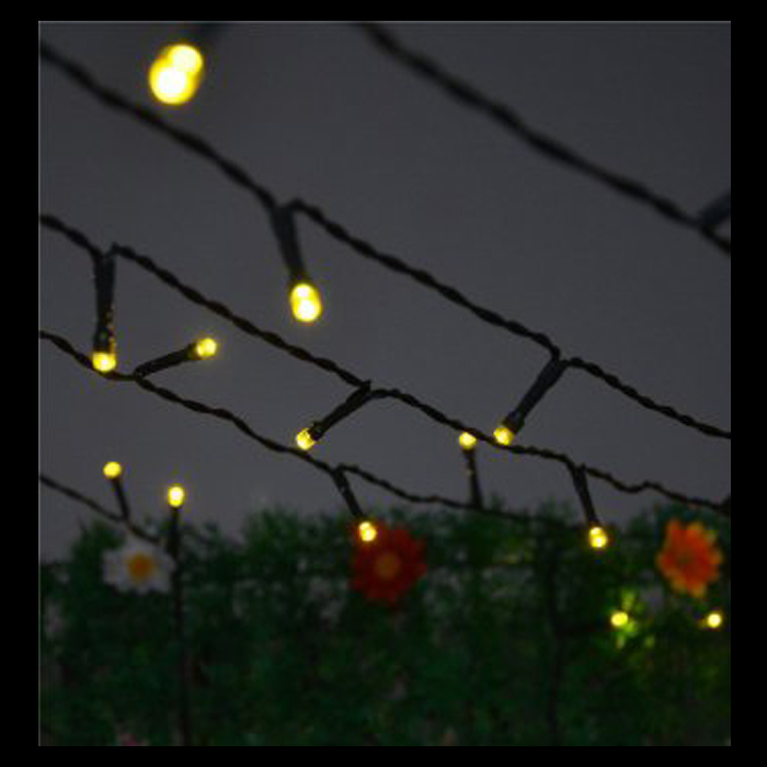 Solar Lights Za: 20m Rubber Warm White LED Fairy Lights