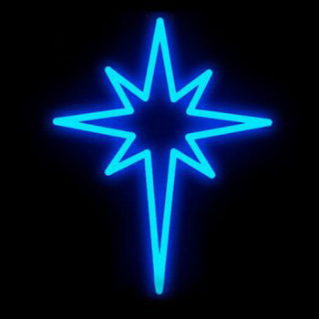 LED Blue Star