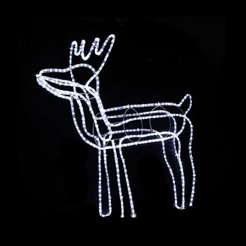 Large LED Reindeer - Cool White