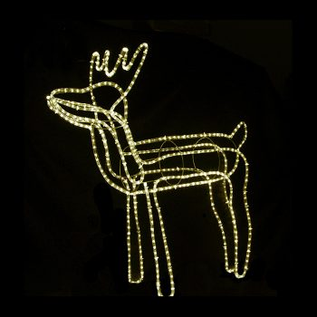 Large LED Reindeer - Warm White