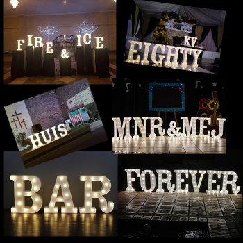 White Marquee Letters