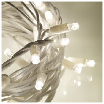 20m Rubber White LED Fairy Lights