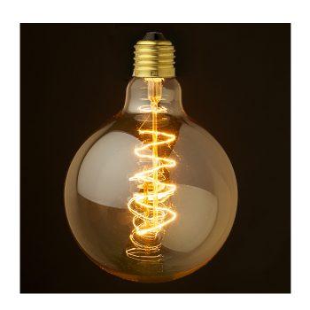 Round spiral edison bulb