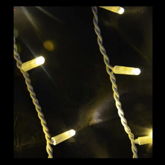 3m Warm White Rubber Led Icicles Festive Lights
