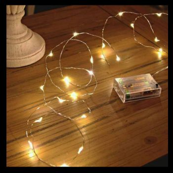 3m Silver Copper Wire Battery Lights