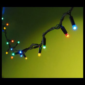 20m Rubber Coloured LED Fairy Lights