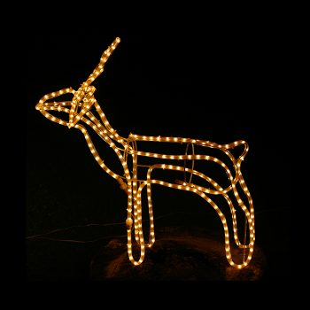 Small LED Reindeer - Warm White