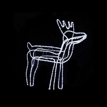 Medium LED Reindeer - Cool White
