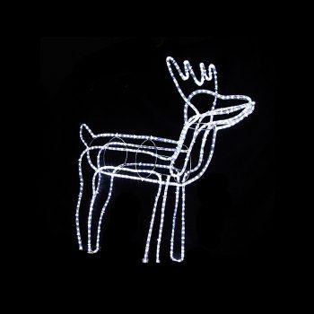 Medium LED Reindeer - Cool White