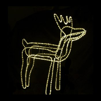 Medium LED Reindeer - Warm White