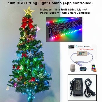 10m RGB String Light Combo (App Controlled)