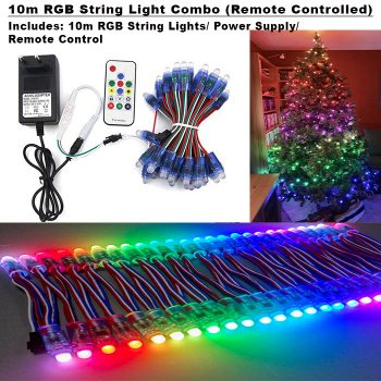 10m RGB String Light Combo (Remote Controlled)