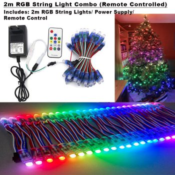 2m RGB String Light Combo (Remote Controlled)