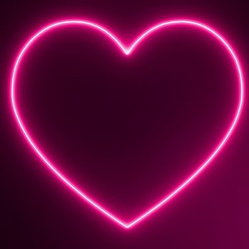 Rental Neon Heart Sign