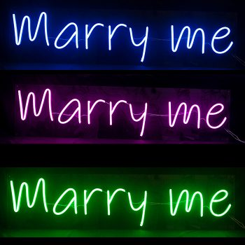 Rental Neon Marry Me Sign